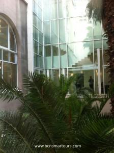 jardines del Museo de Arte de Catalunya
