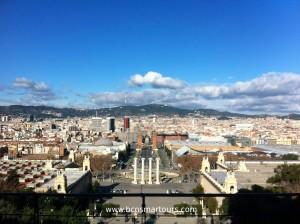 vista panoramica del Museo de Arte de Catalunya