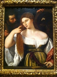 Noia davant el mirall. Tiziano. MNAC