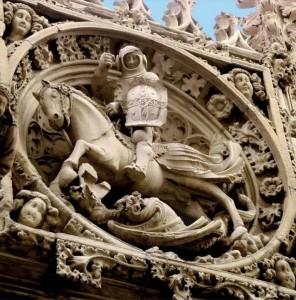 Plafón Sant Jordi. Palau de la Generalitat de Catalunya