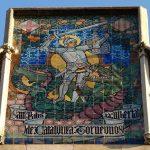 Plafon cerámico Sant Jordi. Casa de les Punxes